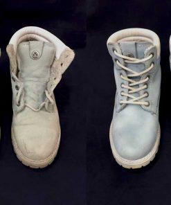 Химчистка белой обуви.
