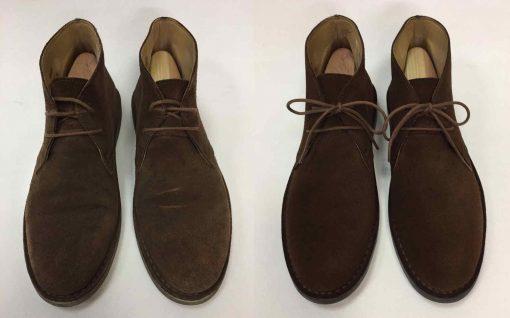 Химчистка мужской замшевой обуви.
