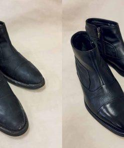 Химчистка кожаной обуви.