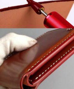Обработка уреза (кромки) кожи