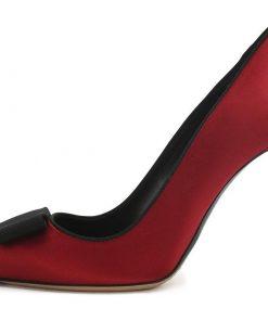 Перетяжка каблуков текстильных туфель RALPH LAUREN.
