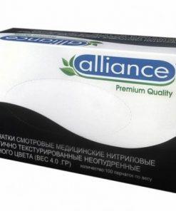 Перчатки нитриловые Alliance (упаковка 100 шт)