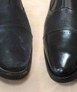 Выведение реагентов с кожаной обуви.