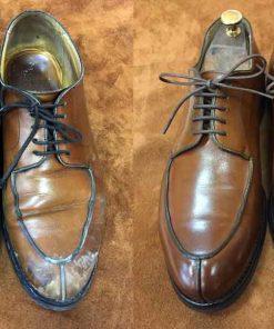 Выведение соли и реагентов с кожаной обуви.