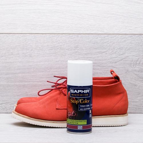 Закрепление цвета свежеокрашенной обуви