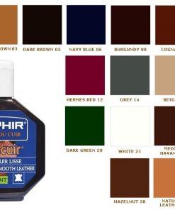 Juvacuir Saphir варианты цвета.