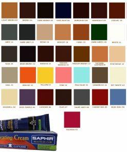 Жидкая кожа для восстановления кожи Cream Renovatrice Saphir, варианты цвета.