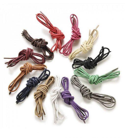 Шнурки цветные, вощеные, армированные